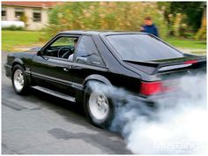 She was so much fun until the fire erupted from underneath the hood! 1993 Ford Mustang, Fox Body Mustang, Ford Mustang Car, Ford Mustangs, Ford Fox, Ford Lincoln Mercury, Classic Mustang, Pony Car, Sweet Cars