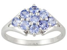 .80ctw Round Tanzanite Sterling Silver Ring