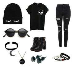 """""""Punk rock"""" by c3a3n3d3y3 on Polyvore featuring Topshop, women's clothing, women's fashion, women, female, woman, misses and juniors"""
