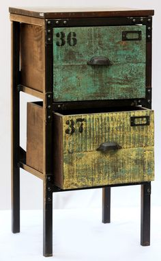 Furniture Online & Decorating Accessories | Industrial Inspired 2 Drawer Chest | Interiors Online Furniture  #furniture #interior #design