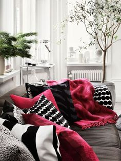 Lotta Agaton for Marimekko Nordic Design Scandinavian Interior Design, Scandinavian Home, Home Interior Design, Nordic Design, Marimekko, Home Living Room, Living Spaces, Lotta, Fashion Room