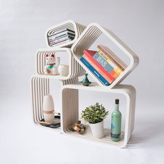 Parallel shelving furniture  multi functional  by studiolorier