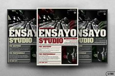 Music Studio Flyer Template by Thats Design Store on @Graphicsauthor
