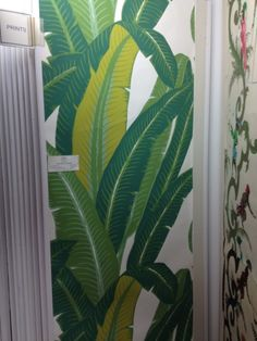 Schumacher palm leaf wallpaper