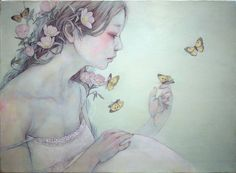 Fantasy paintings by japanese artist Miho Hirano