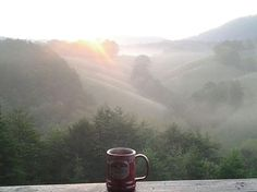 Summer mornings at Berry Springs Lodge...Coffee with a view! Paradise!