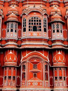 Hawa Mahal palace in Jaipur, India...