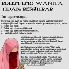 BOLEH LHO, WANITA TIDAK BERJILBAB. INI SYARATNYA Quran Quotes Inspirational, Islamic Love Quotes, Muslim Quotes, Spiritual Quotes, Faith Quotes, Hijrah Islam, Islam Ramadan, Reminder Quotes, Self Reminder