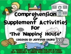 Are you teaching a unit on 'The Napping House' by Audrey Wood and would love a pack of comprehension & supplemental activities that would support a rich & broad understanding of the story?  If you're 'SNORING'  'YES!' This pack is for you!  This set comes to you thanks to a buyer's request and is sure to be all that you need in your classroom, as well!