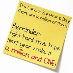 #canceralliance  Cancer Survivors Day!