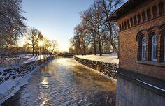 Vinter i Västerås, Svartån, Turbinhuset
