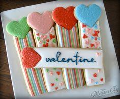 Valentine Cookie Drink Dippers by Melissa Joy Cookies