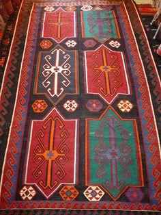 kilim tapestry   Shirvan Arash kilim with beautiful colors, Azerbaijan>Shirvan rugs and ...