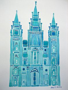 Temple in Watercolors