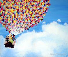 """Up"" Disney Painting by Tiffany Taimoorazy"