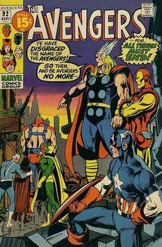 Cover for The Avengers (Marvel, 1963 series) #92