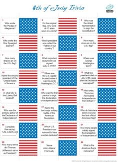Fourth of July Trivia Game-FREE PRINTABLE by beulah