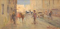 MENASE WAIDERGORN (1927 - ) Título: Paisagem Técnica: óleo sobre tela colada em eucatex Medidas: 12 x 24 cm Assinatura: canto inferior direito