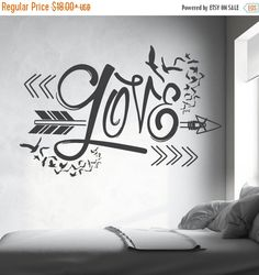 ON SALE - Aztec Love Arrow Design wall decal (Interior & Exterior Available) Indie / Boho Decor, Feather and Arrow, Tribal Design, Bedroom W by LEVinyl on Etsy https://www.etsy.com/listing/254791164/on-sale-aztec-love-arrow-design-wall