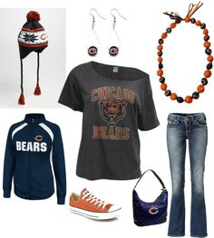 """Chicago Bears Fan"" by denise-bykowski on Polyvore"