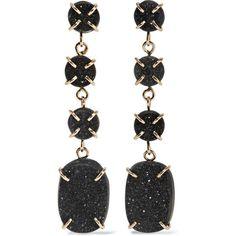 Melissa Joy Manning 14-karat gold druzy earrings ($1,700) ❤ liked on Polyvore featuring jewelry, earrings, brincos, accessories, gold, melissa joy manning, 14k earrings, drusy earrings, druzy jewelry and 14 karat gold earrings