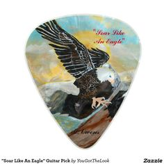 """Soar Like An Eagle"" Guitar Pick Pearl Celluloid Guitar Pick"