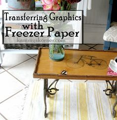 how to transfer graphics with freezer paper