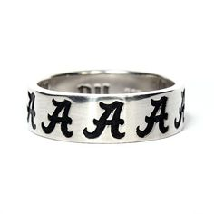 Sterling Silver University of Alabama Spirit 'A' Ring