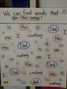 Anchor Charts:Sight Words or you could make this a handout and use during literacy centers.