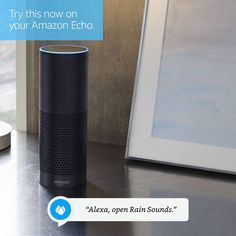 "Your Amazon Echo can help you fall asleep with the relaxing Rain Sounds skill. Focus in a noisy environment, encourage relaxation, or create the perfect ambiance to fall asleep! First, say ""Alexa, enable the Rain Sounds skill."" Then, say ""Alexa, open Rain Sounds."" Find more Alexa skills at http://amzn.to/2kYyp24."