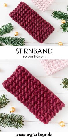 Einfaches Stirnband häkeln – Anleitung Crochet pattern: Easy crochet headband for advanced beginners – headband with granule pattern – crochet grit pattern – simple crochet pattern Crochet Simple, Easy Crochet Patterns, Free Crochet, Easy Crochet Headbands, Headband Pattern, Ear Warmers, Knitting Needles, French Pedicure, Free Pattern
