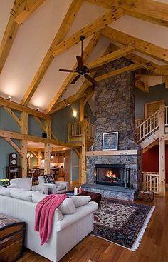 Rustic Home Design, Dream Home Design, House Design, Roof Design, Exterior Design, Design Design, Timber Frame Homes, Timber House, Timber Frames