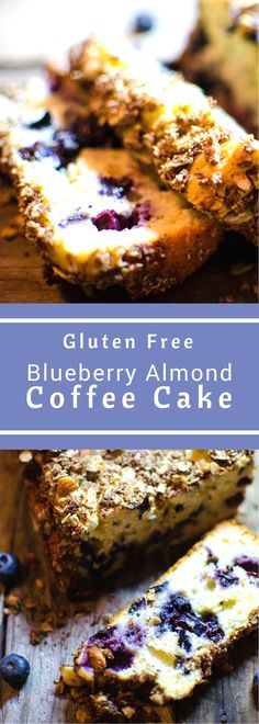 This Blueberry Almond Coffee Cake is one comforting and delicious treating. Swapping half the sugar out for OJ makes it so moist no one will guess it's gluten free! #SundaySupper