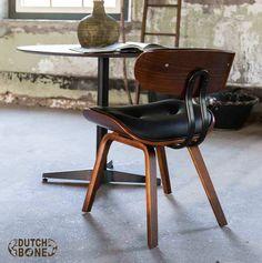 Blackwood Dutchbone Mid century wooden Design chair, retro - vintage looks
