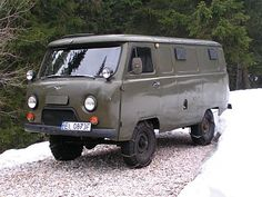 UAZ so this is perhaps on o the more popular russian built cars- and yes they sell them brand new just like this.