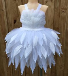 Swan tutu/ swan tutu dress/ white flower by JosieJosHeadbands