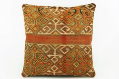 Brown  Accent pillow   Tribal  pillow cover   by GalenUnique, $27.00