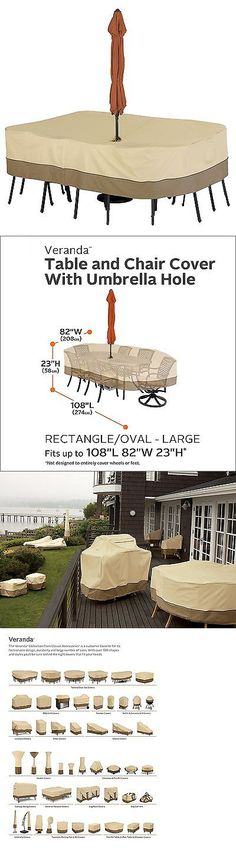 Outdoor Furniture Covers 177031: Veranda Patio Table Cover With Umbrella  Hole  Small Round  Pebble New  U003e BUY IT NOW ONLY: $68.22 On EBay! |  Pinterest Part 60