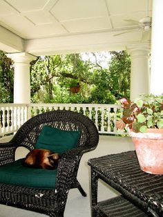 a nice big porch to have a nice iced tea or a glass of wine with the girls! A girl can only dream :)