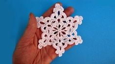 how to crochet a snowflake for beginners - YouTube