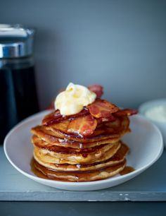 Gingerbread pancakes with Parma ham & maple syrup – Lorraine Pascale