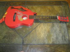 First Act Discovery Designer Acoustic Guitar - Red Orange Flames FG31 #FirstAct #AcousticGuitar Very clean Used.