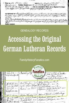 German Genealogy Just Got Easier Check out these Lutheran church records on - SOPHİE Free Genealogy Sites, Genealogy Forms, Genealogy Chart, Genealogy Research, Family Genealogy, Genealogy Humor, Family Tree Chart, Family Trees, Genealogy Organization