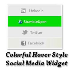 Colorful Hover Style Social Media Widget for Blogger | Blogger Trix | Blogger Tips and Tricks | Free Templates