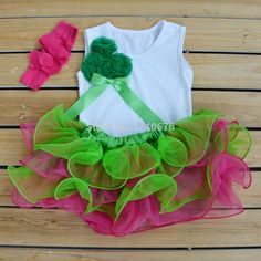 Wholesale 2015 Baby Girl chiffon Pettiskirt Tutu Christmas T-Shirts with Pettiskirt Set newborn Tutu Ruffle Skirt Free Shipping