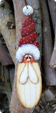 Jolly Ol Santa Ornament 12. $7.25, via Etsy.