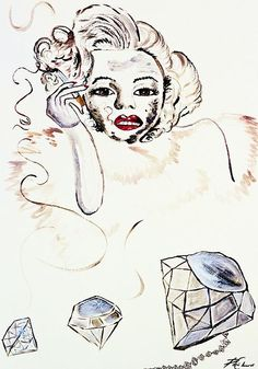Marilyn Monroe with Diamonds Are a Girls Best friend