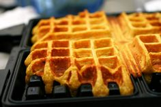 Pumpkin waffles (These were a delicious way to break in my newly acquired 40-yr-old waffle iron)