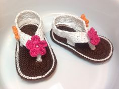 Manuela's Gift Baby Sandals Flip Flop by UncinettoBianco on Etsy