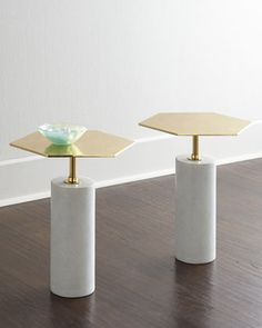 Phoebe Brass-Top Table at Horchow.